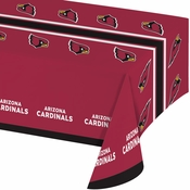 Red and black Arizona Cardinals Tablecloths are sold 1 / pkg, 12 pkgs / case