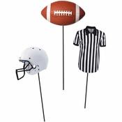 Football DIY Centerpieces Sticks 18 ct