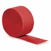 Touch of Color Classic Red Crepe Streamer in quantities of 1 / pkg; 12 pkgs / case