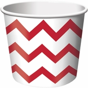 Red Chevron Ice Cream Treat Cups sold in quantities of 6 / pkg, 12 pkgs / case