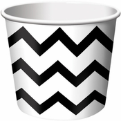 Black Chevron Ice Cream Treat Cups sold in quantities of 6 / pkg, 12 pkgs / case