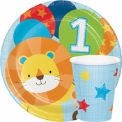 One is Fun Boy 1st Birthday Party Supplies