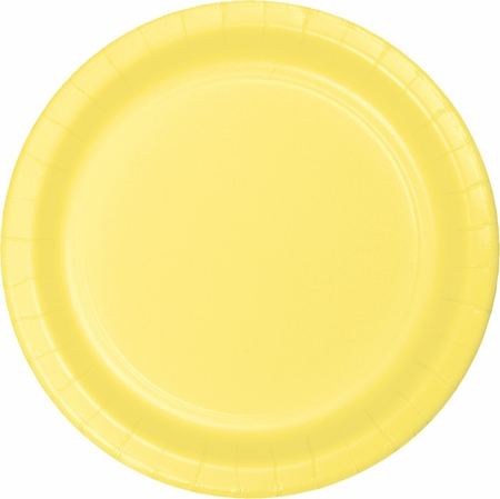 Touch of Color Mimosa Banquet Plates in quantities of 24 / pkg, 10 pkgs / case