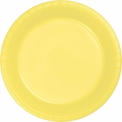 Touch of Color Mimosa Plastic Banquet Plates in quantities of 20 / pkg, 12 pkgs / case