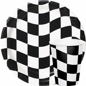 Black & White Check Party Supplies