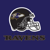 Purple and gold Baltimore Ravens Luncheon Napkins are sold 16 / pkg, 12 pkgs / case