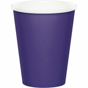 Touch of Color Purple 9 oz Hot & Cold Cups in quantities of 24 / pkg, 10 pkgs / case