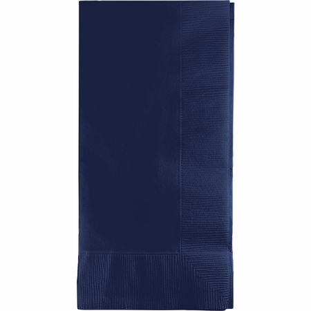 Touch of Color Navy 2 Ply Dinner Napkins in quantities of 50 / pkg, 12 pkgs / case