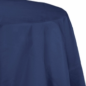 Touch of Color Navy Octy-Round Paper Tablecloths in quantities of 1 / pkg, 12 pkgs / case