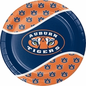Blue and orange Auburn University Dinner Plate sold in quantities of 8 / pkg, 12 pkgs / case