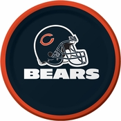 Orange and blue Chicago Bears Dessert Plates are sold 8 / pkg, 12 pkgs / case