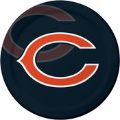 Orange and blue Chicago Bears Dinner Plates are sold 8 / pkg, 12 pkgs / case