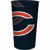 Orange and blue Chicago Bears 22 oz Plastic Stadium Cups are sold 1 / pkg, 20 pkgs / case