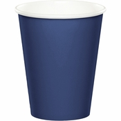 Touch of Color Navy 9 oz Hot & Cold Cups in quantities of 24 / pkg, 10 pkgs / case