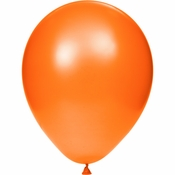 Orange Latex Balloons sold in quantities of 15 / pkg, 12 pkgs / case