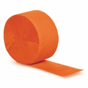 Touch of Color Sunkissed Orange Crepe Streamer in quantities of 1 / pkg, 12 / case