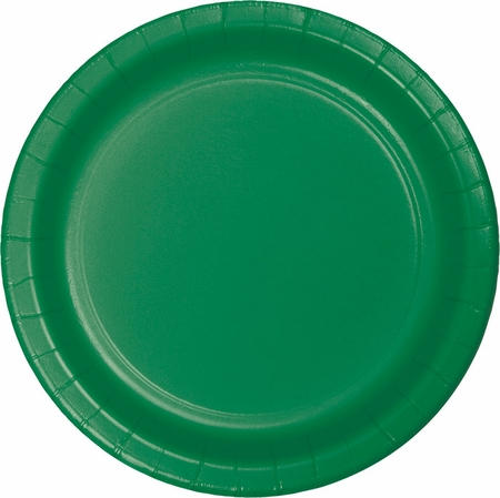 Touch of Color Emerald Green Banquet Plates in quantities of 24 / pkg, 10 pkgs / case