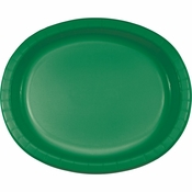 Emerald Green Oval Platters sold in quantities of 8 / pkg, 12 pkgs / case.