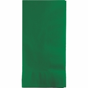 Touch of Color Emerald Green 2 Ply Dinner Napkins in quantities of 50 / pkg, 12 pkgs / case