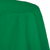 Touch of Color Emerald Green Octy-Round Paper Tablecloths in quantities of 1 / pkg, 12 pkgs / case