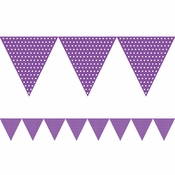 Amethyst Purple Polka Dot Flag Banners 6 ct