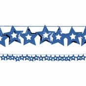 Blue Stars Garland measures 9 feet x 2.5 inches and is sold in quantities of 1 / pkg, 12 pkgs / case