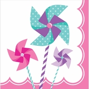 1st Birthday Pinwheel Girl Luncheon Napkins 192 ct