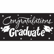 Black Graduation Gigantic Party Banners 6 ct