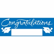 Blue Graduation Party Banners 6 ct
