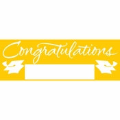 Yellow Graduation Party Banners 6 ct