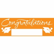 Orange Graduation Party Banners 6 ct