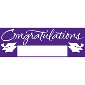 Purple Graduation Party Banners 6 ct