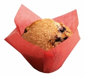 Red colored greaseproof paper Large Red Tulip Cup sold in bulk 1000 count cases of 10/pkg, 250 pkgs/case.