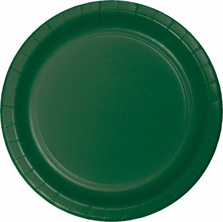 Touch of Color Hunter Green Banquet Plates in quantities of 24 / pkg, 10 pkgs / case
