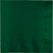 Touch of Color Hunter Green 2 Ply Luncheon Napkins in quantities of 50 / pkg, 12 pkgs / case