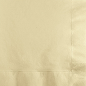 Touch of Color Ivory 2 ply Beverage Napkins in quantities of 50 / pkg, 12 pkg / case
