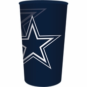 Blue and silver Dallas Cowboys 22 oz Plastic Stadium Cups are sold  1 / pkg, 20 pkgs / case