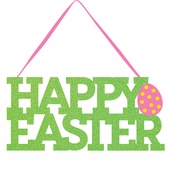 Happy Easter Glitter Signs 12 ct