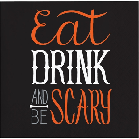 Eat, Drink and Be Scary Halloween Beverage Napkins 192 ct