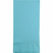 Touch of Color Pastel Blue 3 Ply Guest Towels in quantities of 16 / pkg, 12 pkgs / case