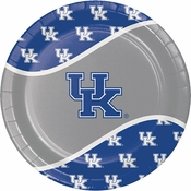 Blue and white University of Kentucky Dinner Plate sold in quantities of 8 / pkg, 12 pkg / case