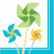 1st Birthday Pinwheel Boy Luncheon Napkins 192 ct