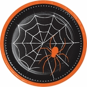 Spider Web Halloween Dinner Plates 96 ct