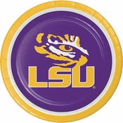 Louisiana State University Dinner Plates 96 ct