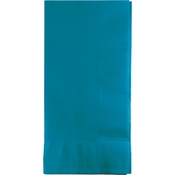 Touch of Color Turquoise 2 Ply Dinner Napkins in quantities of 50 / pkg, 12 pkgs / case
