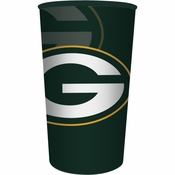 Green and gold Green Bay Packers 22 oz Plastic Stadium Cups are sold  1 / pkg, 20 pkgs / case