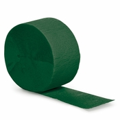 Touch of Color Hunter Green Crepe Streamer in quantities of 1 / pkg, 12 pkgs / case