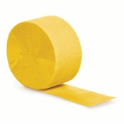 Touch of Color School Bus Yellow Crepe Streamer in quantities of 1 / pkg, 12 / case