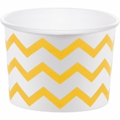 School Bus Yellow Chevron Treat Cups 72 ct
