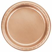 Rose Gold Foil Dessert Plates 96 ct